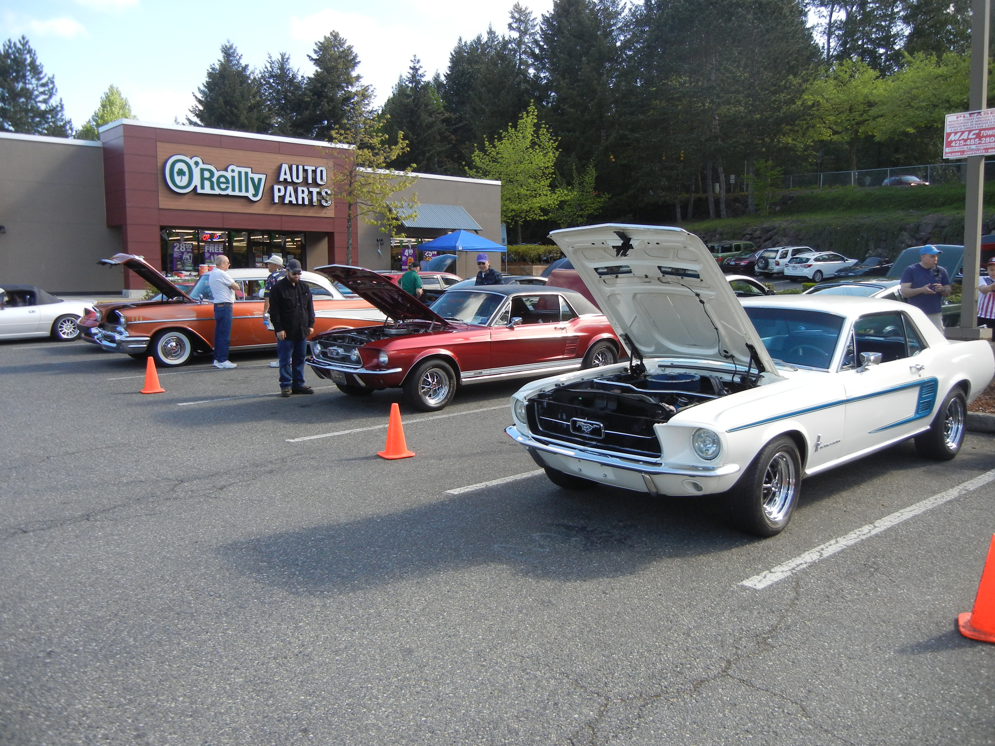 Mustangs Northwest OReilly Woodinville Grand Opening Car Show - O reilly car show